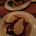 Chicken Mushrooms, Parmesan, Pears and Brioche