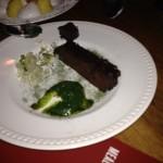 Chocolate Fondant, Mint Pesto and Habanero Gelee